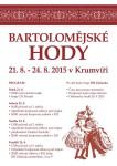 Bartolomějské hody 21.8. - 24.8.2015 v Krumvíři